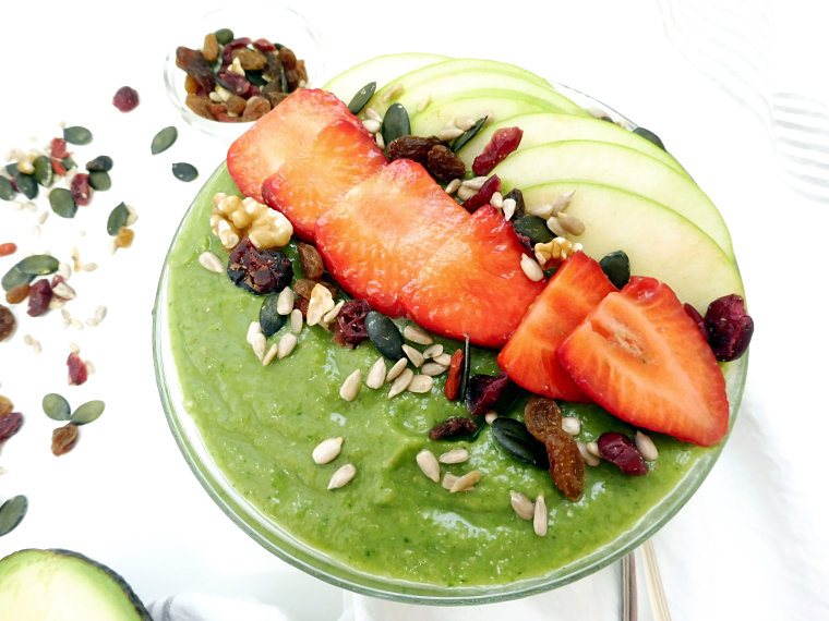 PUNTXET Green & Detox Smoothie Bowl #receta #recipe #breakfast #desayuno #smoothiebowl #detox #healthy #food