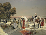 Reception at Compiegne in 1810 by Francois Flameng - History Paintings from Hermitage Museum