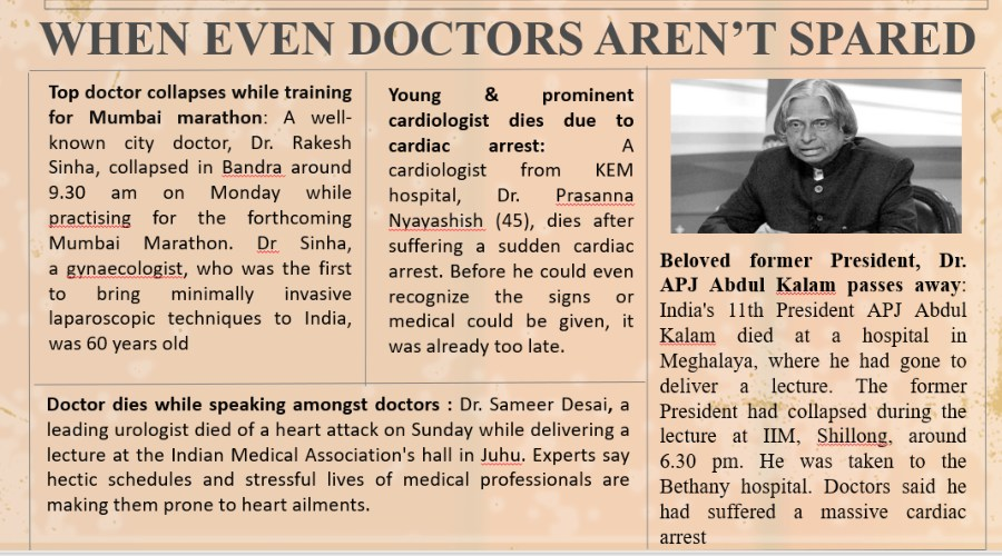 doctors dying of cardiac arrest