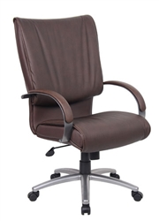 Traditional Brown Leather Executive Chair