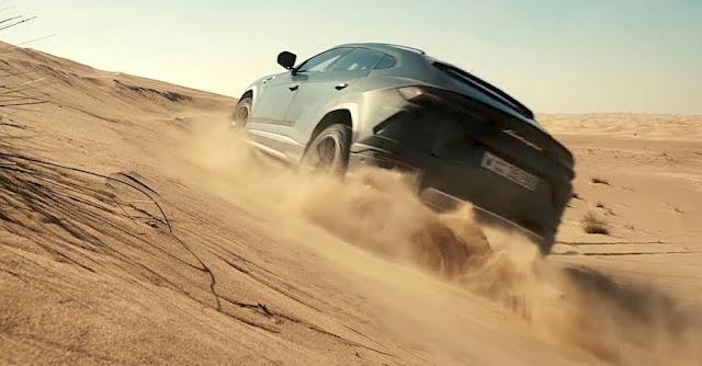 ランボルギーニで砂漠や雪上を走る!SUV「ウルス」の新たなプロモーション映像が公開。