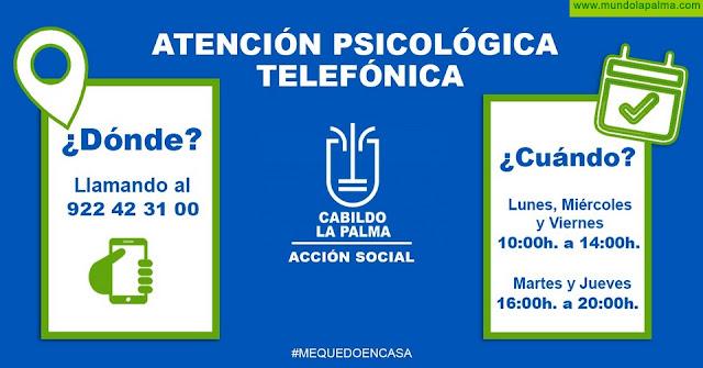 El Cabildo de La Palma habilita un servicio telefónico de atención psicológica