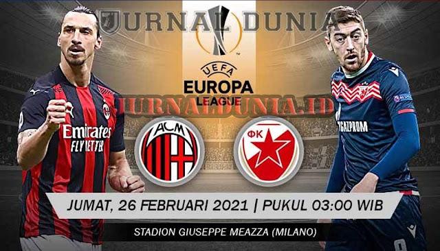 Prediksi AC Milan vs Red Star Belgrade, Jumat 26 Februari 2021 Pukul 00.55 WIB