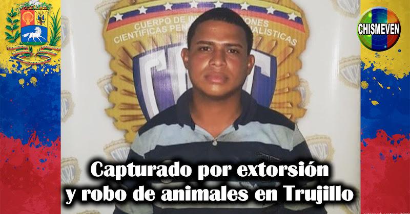 Capturado por extorsión y robo de animales en Trujillo