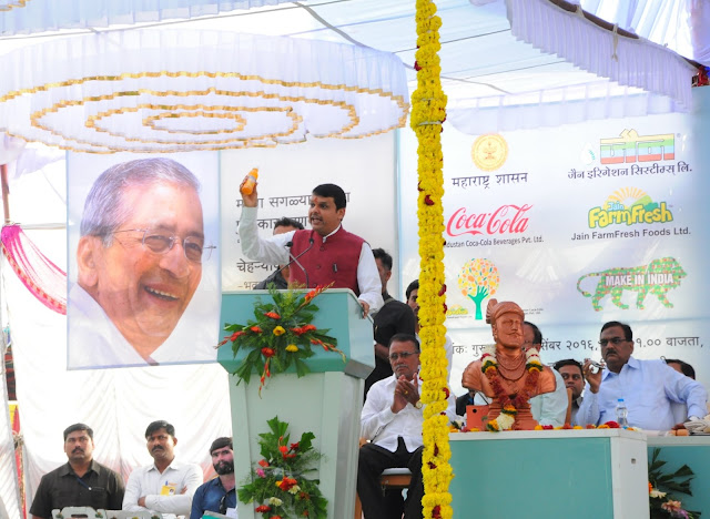Chief Minister Shri Devendra Fadnavis Performs Ground Breaking Ceremony For Jain Farm Fresh Foods-Hindustan Coca Cola Orange Unnati Project