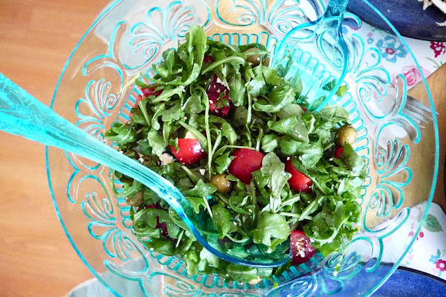 She's So Lucy Ella Ryder Rocket Salad Recipe Easy Healthy Quick Low Carb Blogger Greek Dinner Party