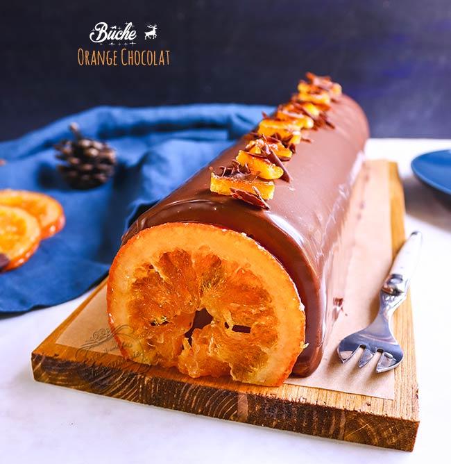 buche à l'orange