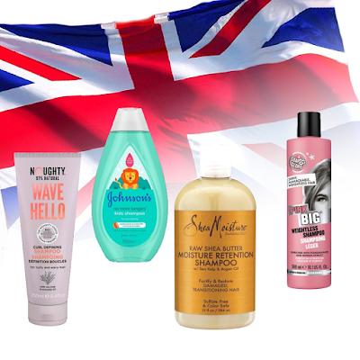 Kosmetyki w UK - łagodne szampony.