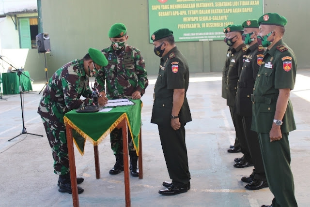Kodim 0702 Purbalingga Laksanakan Sertijab Danramil dan Perwira Staf