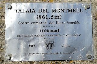 Talaia del Montmell (Sostre comarcal Baix Penedès)