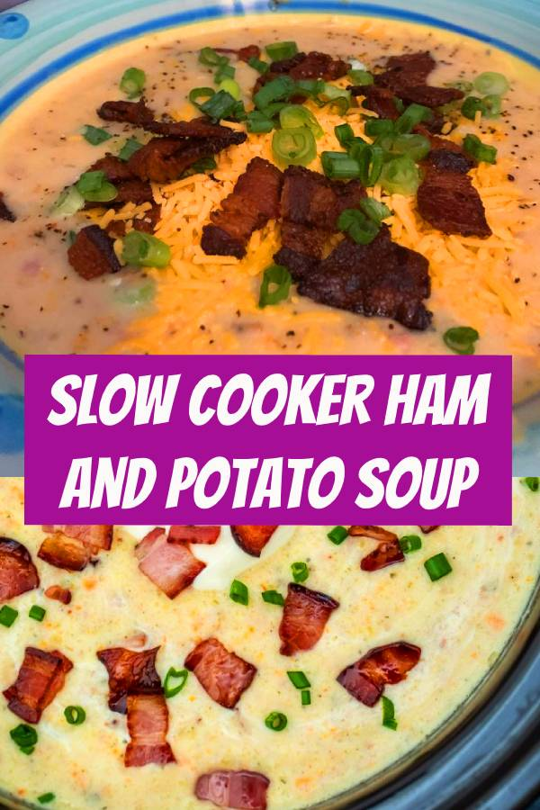 Slow Cooker Ham and Potato Soup is hearty, creamy, and very comforting! Warm-up during the cold days and cook it hassle-free with this easy crockpot recipe! #ham #slowcooker #crockpotrecipes #soup #souprecipeseasy