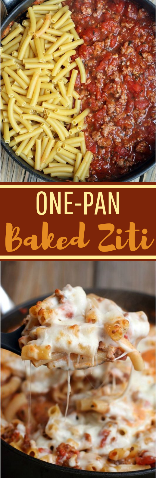 One Pan Baked Ziti #easyrecipe #dinner