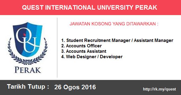 Jawatan Kosong di Quest International University Perak