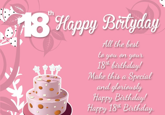 Awesome Happy 18th Birthday Wishes - 18th Birthday Status