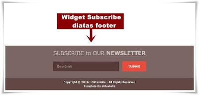 Cara Membuat Widget Subscribe / Berlangganan diatas Footer