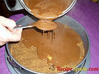 Adding chocolate into the mold