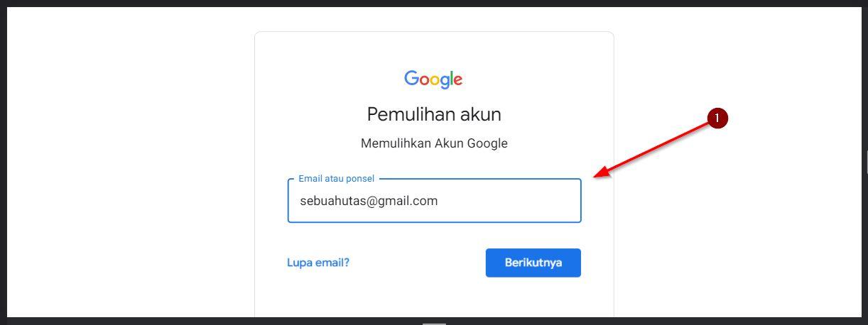 fitur pemulihan akun google