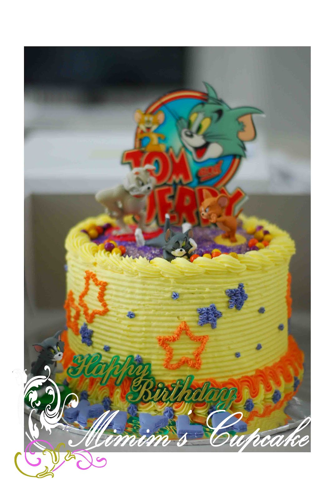 Mimim S Cupcake Tom And Jerry Cake For Kayla