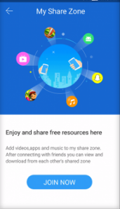Feature Share Zone SHAREit