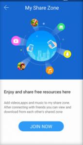 Feature Share Zone SHAREit