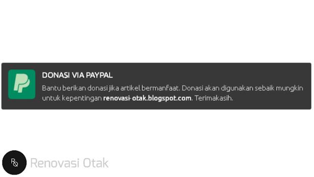 Membuat Widget Donasi PayPal