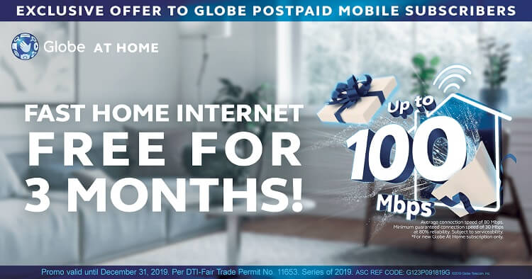 Globe Postpaid Users to Get Free 3 Months of Home Internet