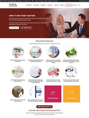 Mẫu website wordpres dịch thuật van phúc thiết kế chuẩn seo