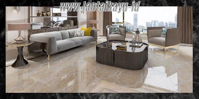 Dekorasi Ruang Tamu  Minimalis yang Mewah - gunakan lantai marmer