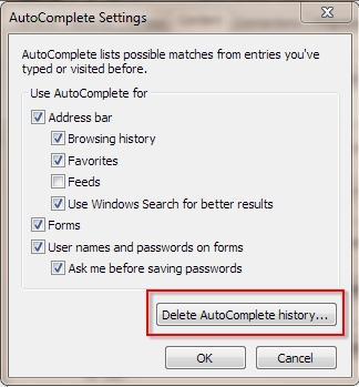 how to delete printer history on windows 7