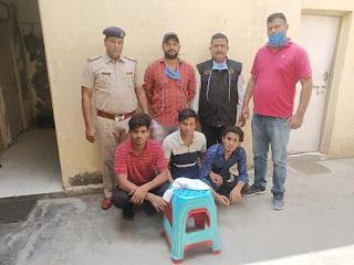 हत्या का प्रयास करने वाले तीन काबू, देसी कट्टा और जिंदा कारतूस भी बरामद