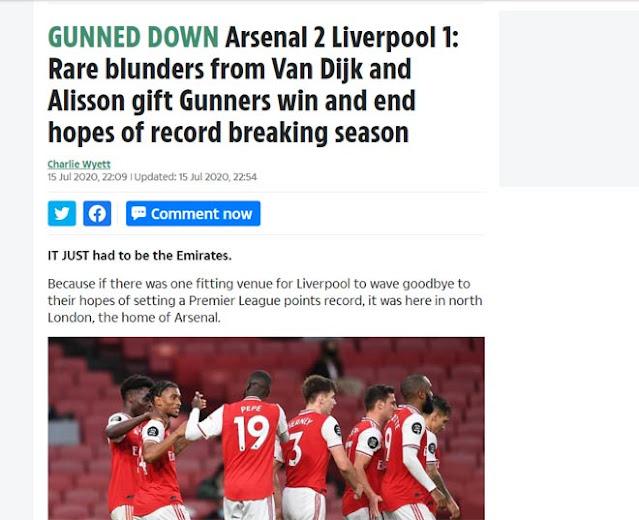 """Liverpool thua ngược Arsenal: Báo chí Anh thi nhau công kích 2 """"tội đồ"""" 4"""