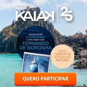 Cadastrar Kaiak 25 Anos Promoção Natura 2021