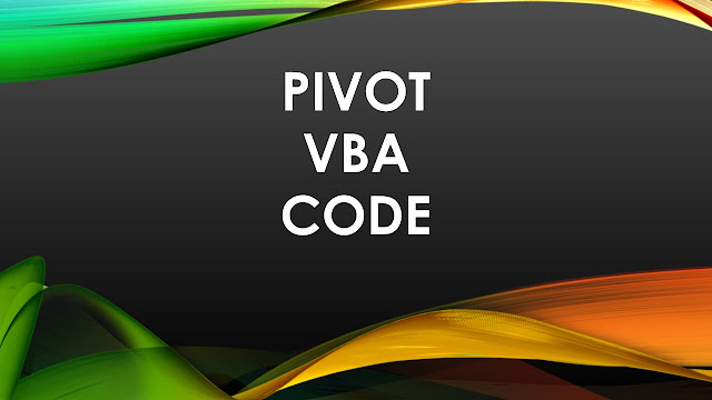Pivot VBA code
