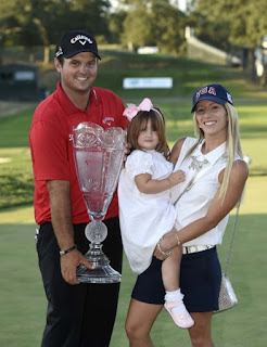 Patrick Reed With His Wife Justine Karain And Daughter Windsor