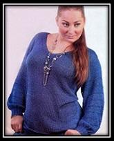 Legkii jenskii pulover svyazannii spicami so shemoi i opisaniem (1)