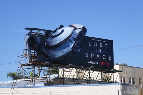 Lost in Space crashed Jupiter 2 billboard