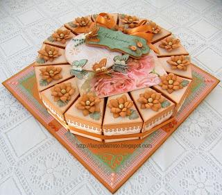 Caixas fatia de bolo