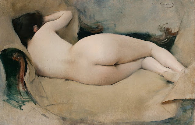 Ramòn Casas: Nudo femminile di schiena