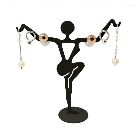 #251-112 Metal Dancer Earring Display Stand