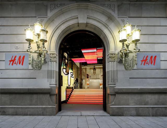 Loja H&M em Barcelona