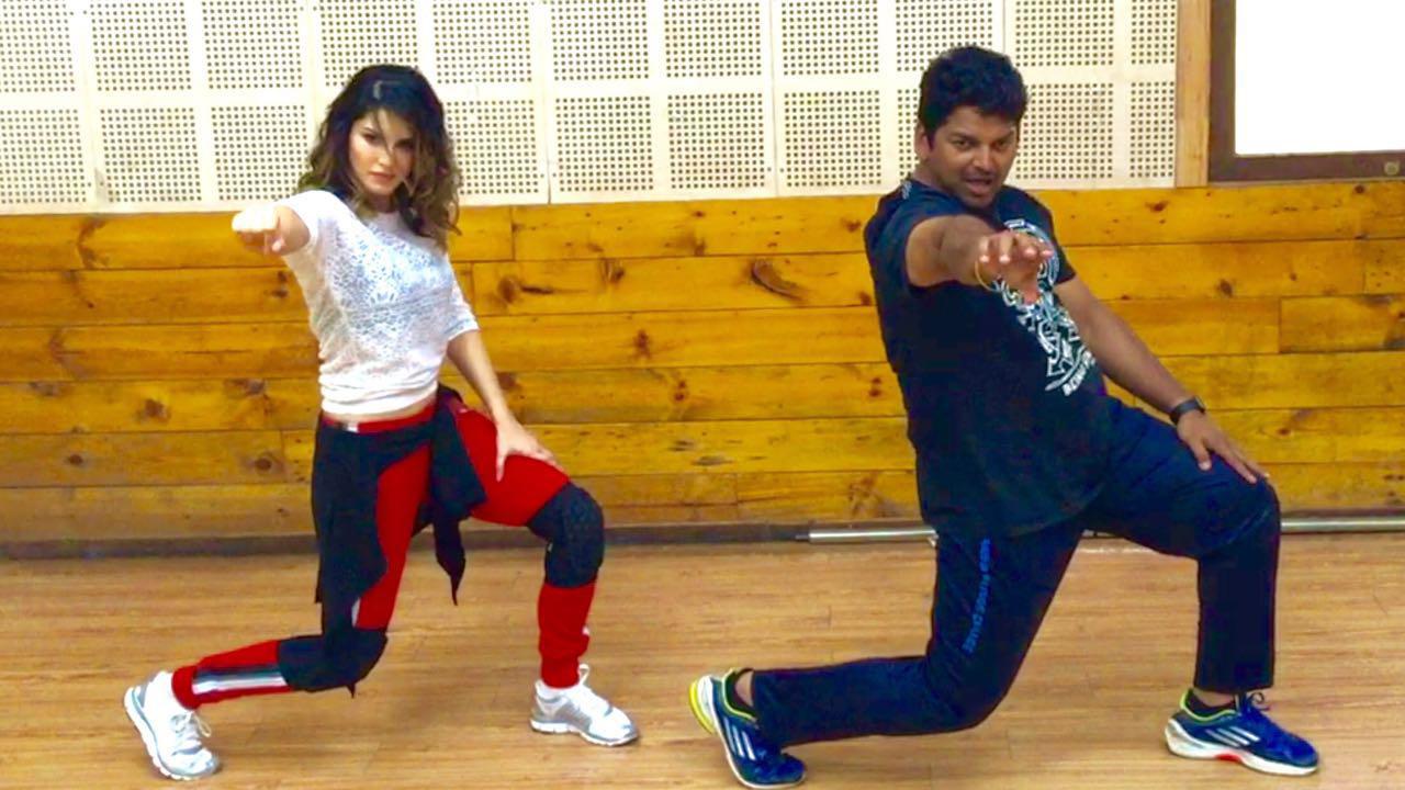 Sunny Leone hot dance, Sunny Leone sexy dance, Sunny Leone sexy legs, Sunny Leone with Vishnu Deva