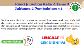 Kunci Jawaban Kelas 6 Tema 9 Subtema 2 Pembelajaran 3 www.simplenews.me