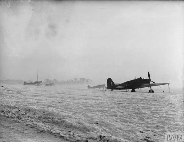 Fairey Fulmars at Donibristle after a snowstorm, 25 January 1942 Worldwartwo.filminspector.com