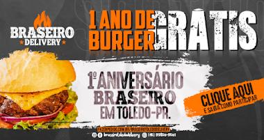 Neste Aniversário você tem a chance de concorrer a 1 ANO de Burger Artesanal Grátis