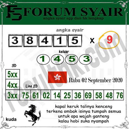 Forum Syair HK Rabu 02 September 2020