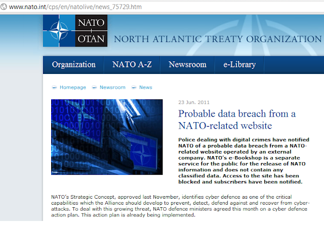 NATO Reports Data Breach to One of Its Websites