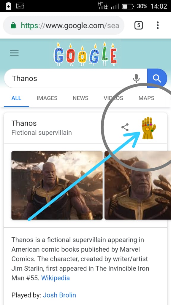 Google Creates A Thanos Snap Easter Egg | Chu9ja | One Stop To