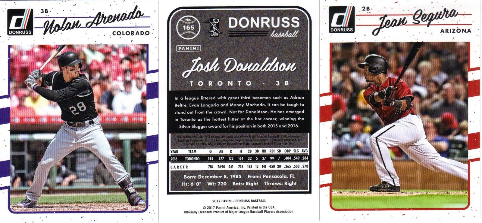 Nothing If Not Random 2017 Donruss Baseball Cards