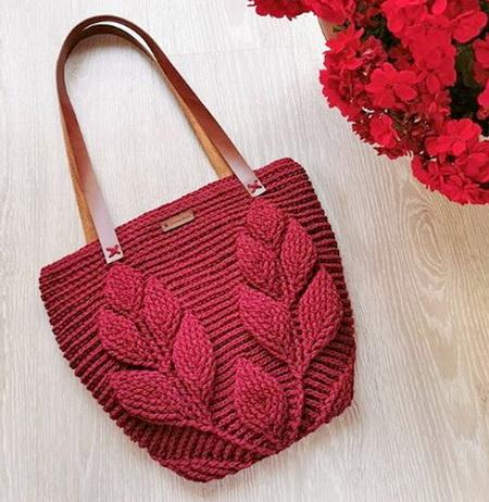 Leaf Stitch Crochet Bag Pattern and Tutorial