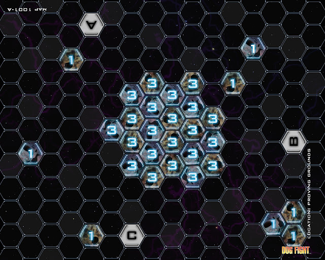Dog Fight: Starship Edition legacy map 1001-A